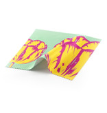 Brillenputztuch, 15x15, Tulpen Pop Line grün