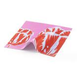 Tissu pour lentilles, 15 x 15 cm, Tulips Pop Line Rose