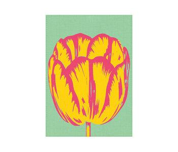 Tea Towel, Tulip Pop line green