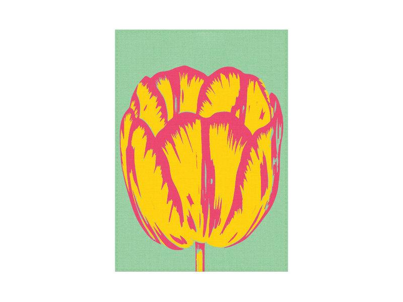 Torchon, ligne Tulip Pop vert
