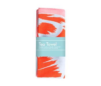 Tea Towel , Tulip Pop line Pink