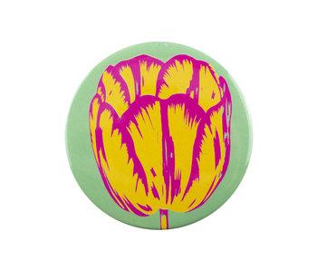Pocket Mirror , Ø 80 mm, Tulip Pop Line Green