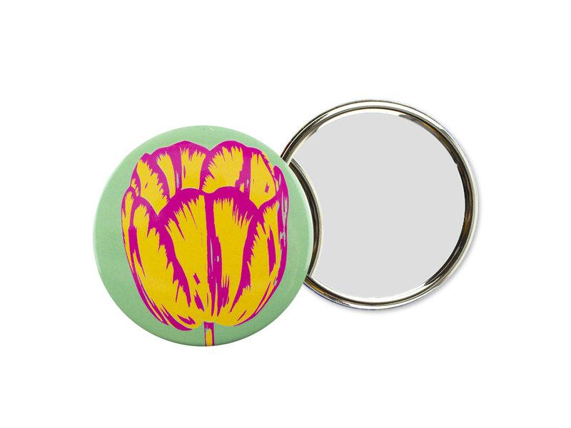 Spiegel groot,  Ø 80 mm, Tulp Pop Line Green