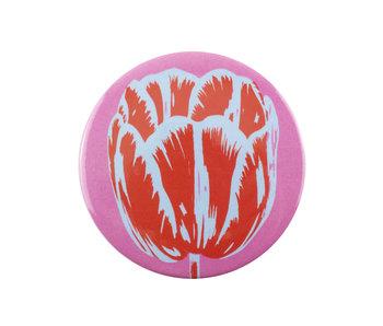 Miroir de poche, Ø 80 mm, Tulip Pop Line Rose