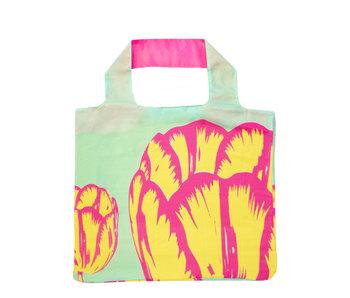 Faltbarer Shopper, Tulpen-Pop-Art, Grün