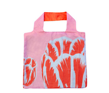 Shopper foldable , Tulip Pop Line Pink