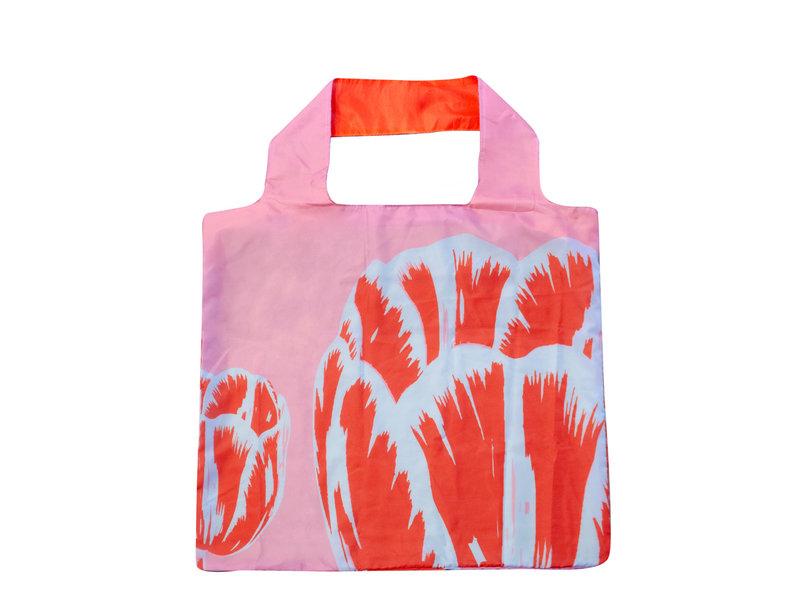 Vouwtas, Tulip Pop Art Lijn Roze