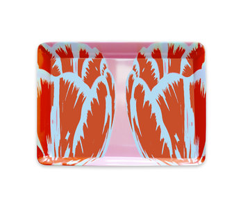 Serving Tray 21 x 14 cm,  Tulip Pop Line pink
