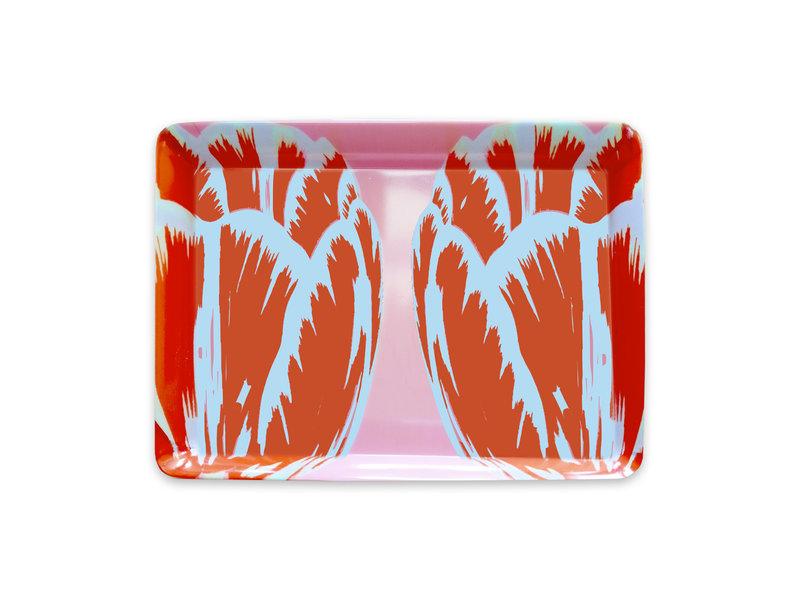 Mini dienblad , 21 x 14 cm, Tulip Pop Line Roze