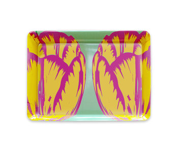 Mini tray, 21 x 14 cm, Tulip Art Pop Line green