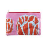 Etui/ make-up tasje, Tulp Pop-art Roze