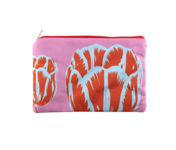 Pouch, Tulip Pop Line Pink
