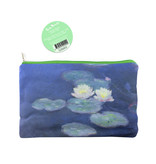 Pouch / make-up bag, Monet, Water lilies in evening light