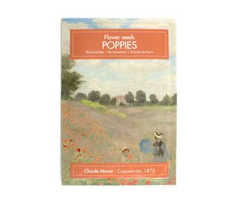 Postkarten-Saatgutbeutel, Mohnblumen, Monet