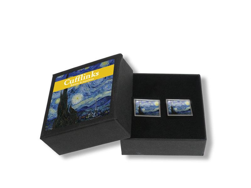 Boutons dse manchette, Nuit étoilée, Van Gogh