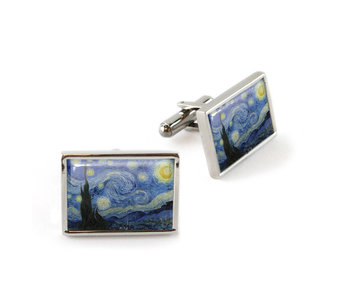 Cufflinks, Starry Night, Van Gogh