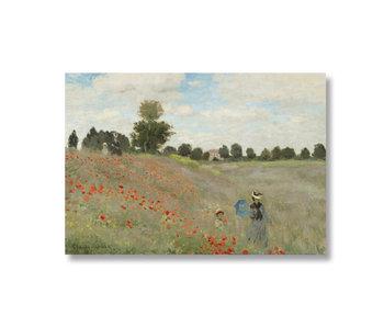 Poster, 50x70 Monet, Veld met klaprozen