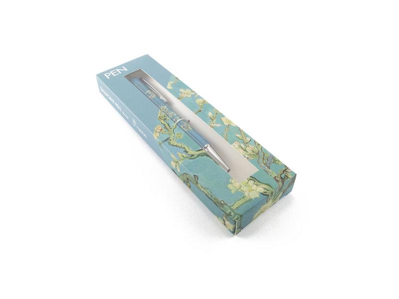 Stylo bille en boite,  Fleur d'amandier, Van Gogh
