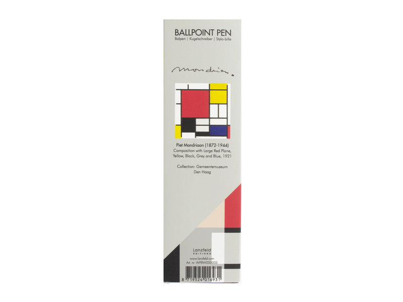 Ballpen in box,  Mondrian