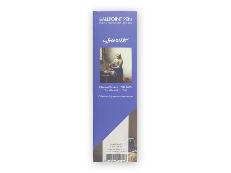 Ballpen in box,  Vermeer, The Milkmaid