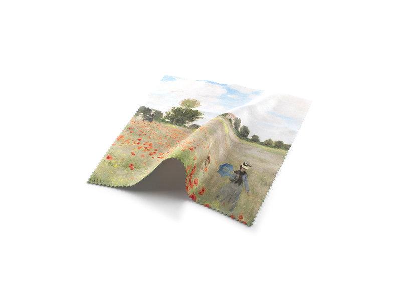 Brillenbox, Monet, Feld mit Mohnblumen - mit Linsenkleidung