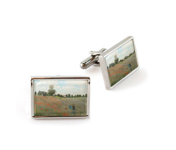 Cufflinks, Field with poppies, Monet