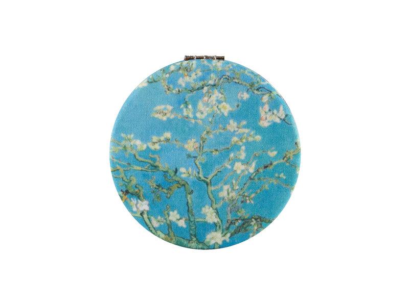 Miroir de poche pliant, microfiber, Van Gogh, fleur d'amandier