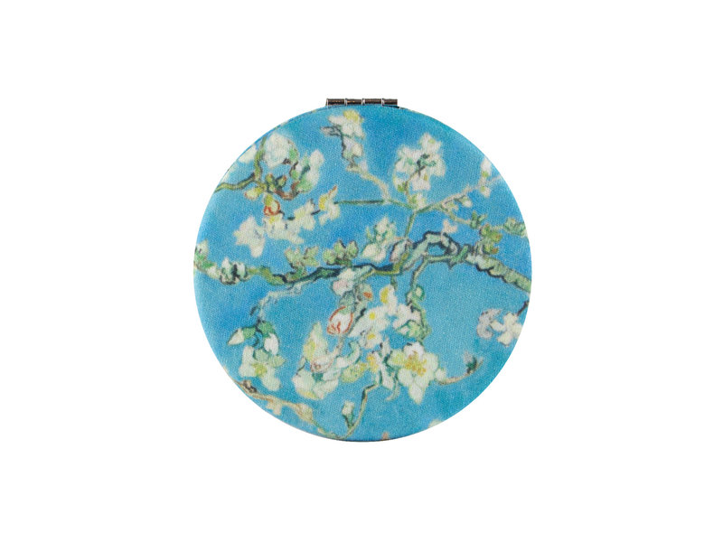 Klappbarer Taschenspiegel microfiber,  Van Gogh, Mandelblüte