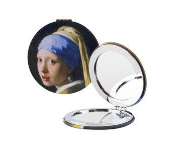 Miroir de poche pliant, Vermeer, fille avec une boucle d'oreille perle