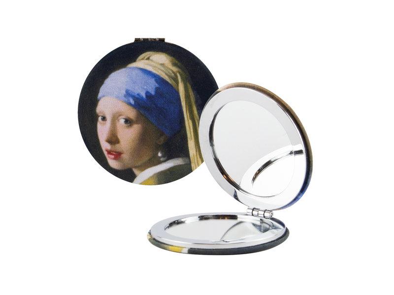 Klappbarer Taschenspiegel microfiber, Vermeer, Mädchen mit Perlenohrring