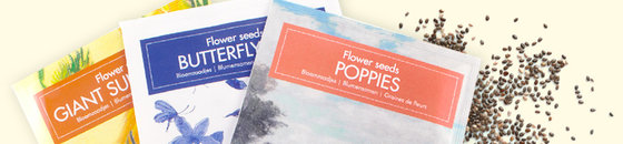 Flower seeds postcard