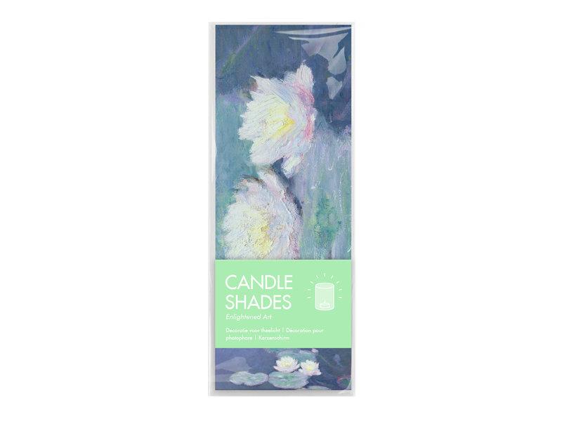 Wind lichtjes, Monet, Waterlelies in avondlicht