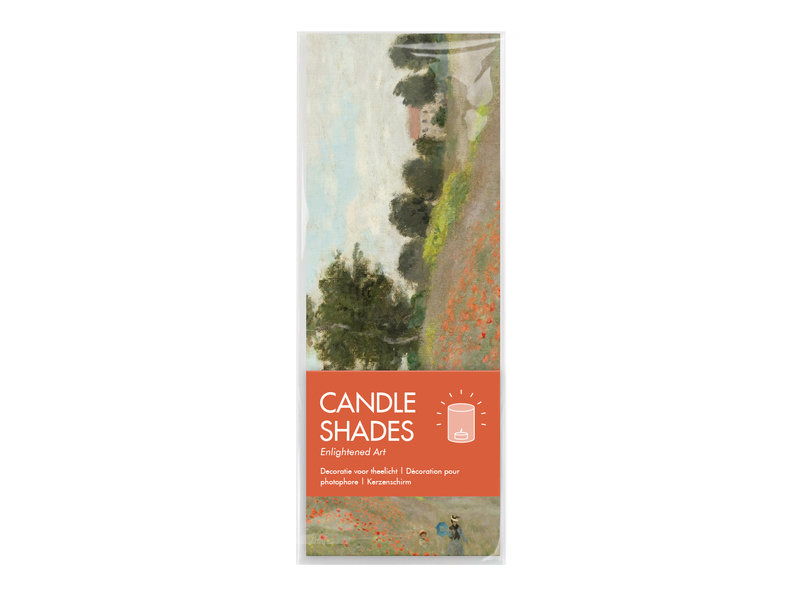 Candle shade, Monet, Field with poppies