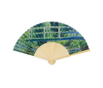 Hand fan, Monet, Japanese bridge