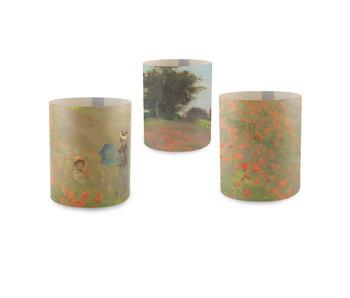 Kerzenschirm, Monet, Mohnfeld