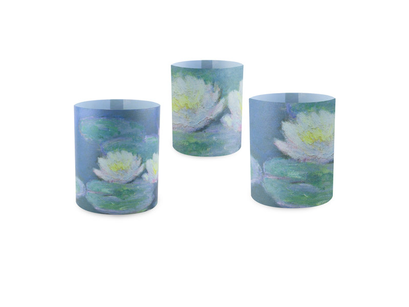 Candle shades, Monet, Water Lilies in evening light