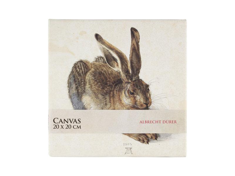 Tableau sur toile, 20x20 cm, Dürer, Hare