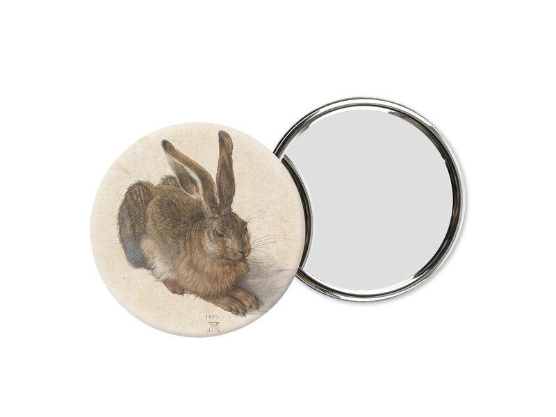 Miroir de poche, Ø 60 mm, Dürer, lièvre