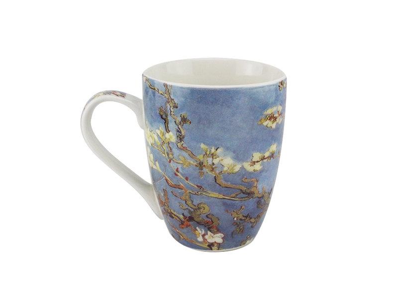 Set: Beker & dienblaadje, Amandelbloesem , Van Gogh