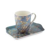 Set: Becher & Tablett, Mandelblüte, Van Gogh