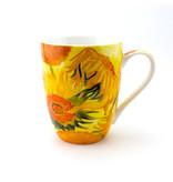 Ensemble: tasse et plateau, Tournesols, Van Gogh