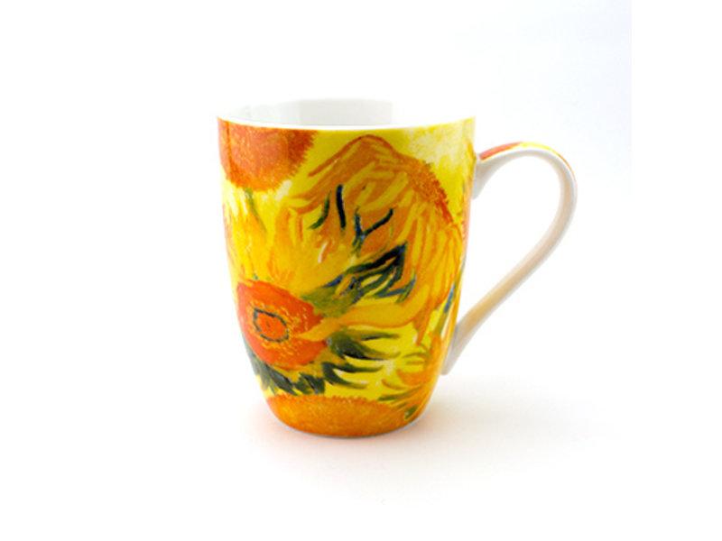 Set: Becher & Tablett, Sonnenblumen, Van Gogh
