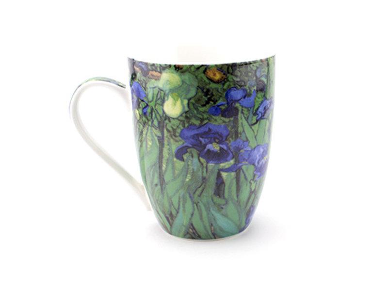 Set: Becher & Tablett, Iris, Van Gogh