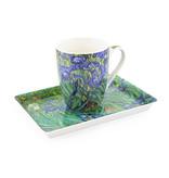 Set: Mok & dienblaadje, Irissen, Van Gogh
