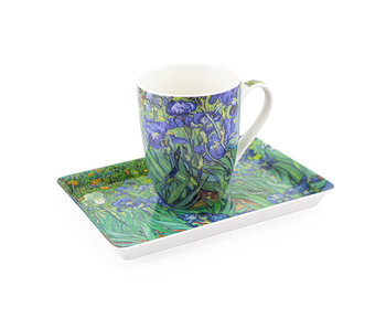 Set: Mug & tray, Irises, Van Gogh