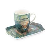 Set: Mok & dienblaadje, Zelfportret, Van Gogh