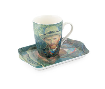 Set: Mug & tray, Self-portrait, Van Gogh