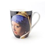 Set: Beker & dienblaadje, Meisje met de parel, Vermeer