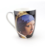 Set: Becher & Tablett, Mädchen mit Perlenohrring, Vermeer.
