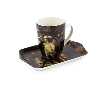 Set: Mug & tray, Night watch, Rembrandt